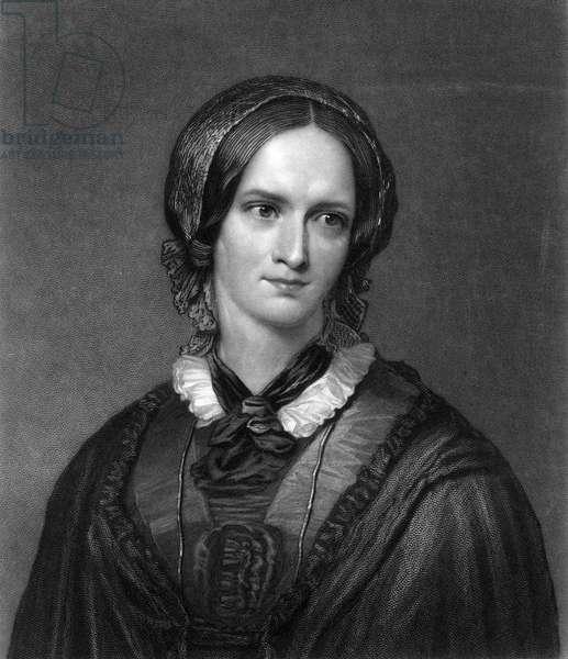 CHARLOTTE BRONTË (1816-1855). English novelist. Mezzotint, 1857, by John Sartain after George Richmond.
