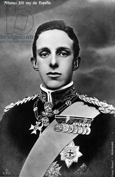 ALFONSO XIII OF SPAIN (1886-1941). King of Spain, 1886-1931.