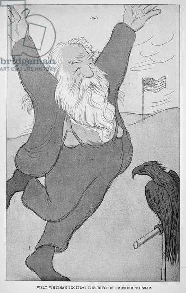 WALT WHITMAN (1819-1892) American poet. Caricature, 1904, by Max Beerbohm.