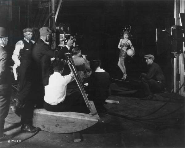 MOVIE SET, 1935 Director Robert Z. Leonard on the set of The Gilded Lily, 1935.