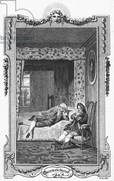 STERNE: TRISTRAM SHANDY Engraving for the 1781 edition of Laurence Sterne's novel.