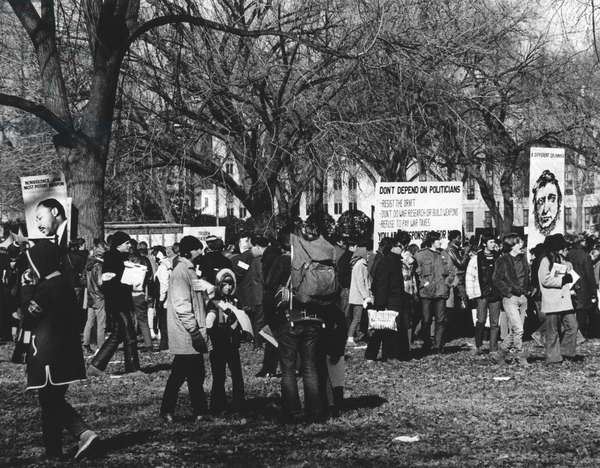 ANTI-WAR PROTEST, 1969 Thousands of people meet in Washington, D.C., on 15 November 1969, to protest the war in Vietnam.
