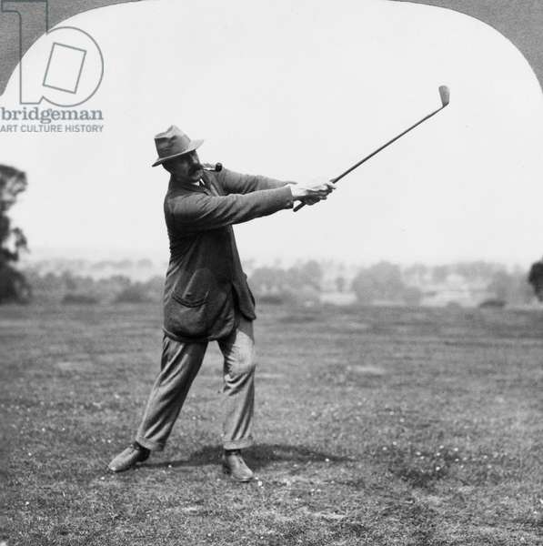 TED RAY (1877-1943) Edward 'Ted' Ray. British golfer. Photograph, c.1913.
