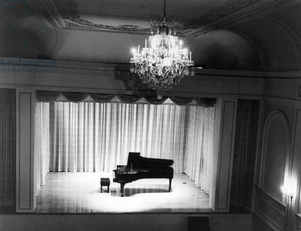 CARNEGIE RECITAL HALL The 268 seat recital hall on the third floor of the Carnegie Hall building in New York, c.1975.