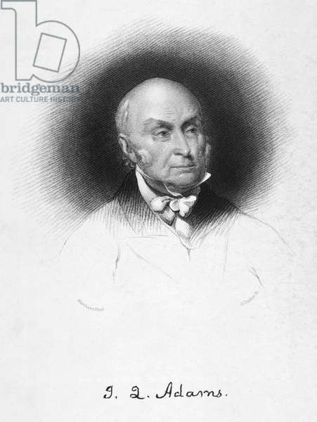 JOHN QUINCY ADAMS (1767-1848). Sixth President of the United States. Stipple engraving, 19th century.