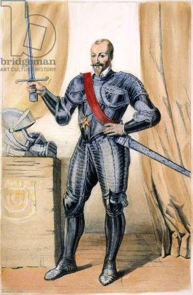 DUKE HENRY I DE MONTMORENCY (1534-1614): line engraving, French, 19th century.