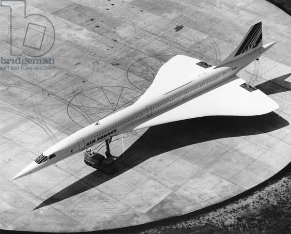 AIR FRANCE: CONCORDE The Air France Concorde high-speed passenger plane. Photograph, late 20th century.