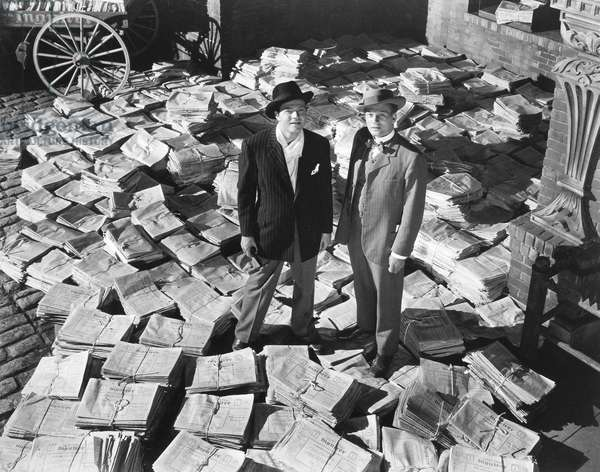 FILM: CITIZEN KANE, 1941 Orson Welles and Joseph Cotten in a scene from the 1941 motion picture 'Citizen Kane.'