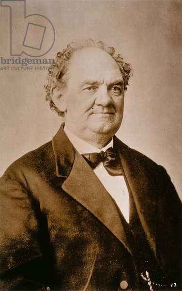 P.T. BARNUM (1810-1891) Phineas Taylor Barnum, photograph, n.d.