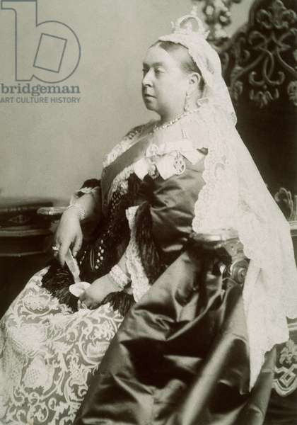 QUEEN VICTORIA OF ENGLAND (1819-1901). Photographed in 1887.