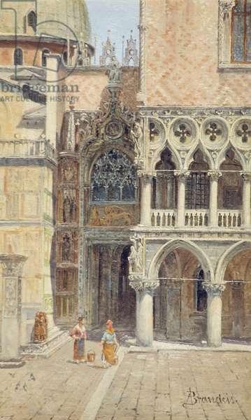 Ducal Palace Door, Venice, Italy, c.1895-1920 (oil on board)
