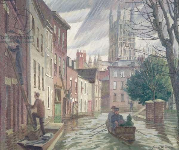 The Great Flood, Gloucester, 1947, 1947 (oil on canvas)