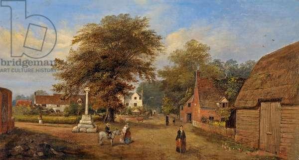 Hempsted Village, Gloucestershire, c.1880 (oil on canvas)