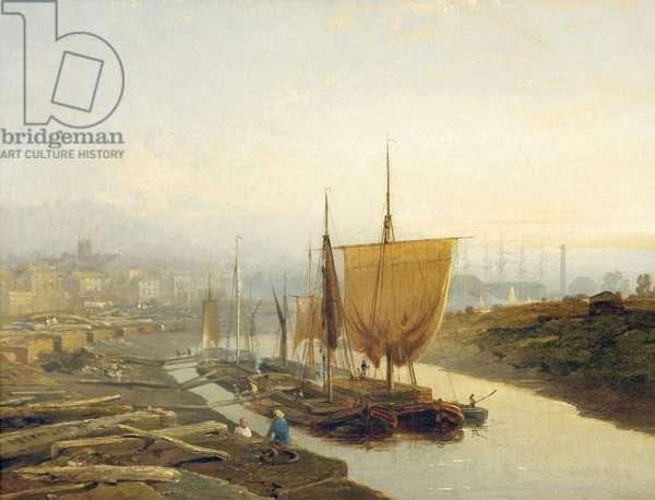 Gloucester Quay, 1858 (oil on canvas)