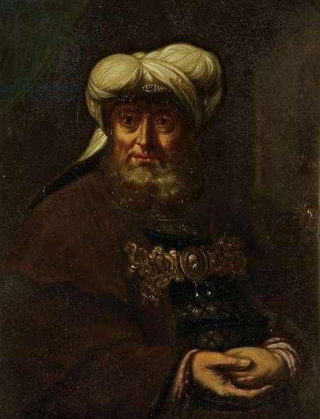 A Rabbi (King Uzziah Stricken with Leprosy), c.1764-85 (oil on canvas)