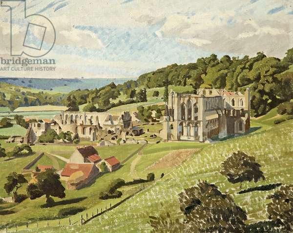 Rievaulx Abbey, North Yorkshire (oil on canvas)
