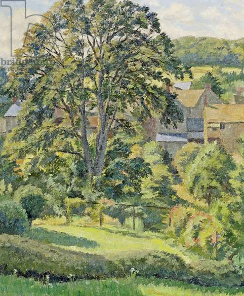 A Garden at Uley, Gloucestershire (oil on canvas)