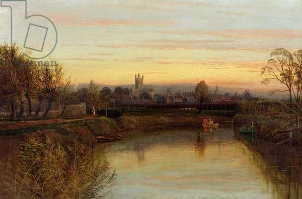 Gloucester from Severnside Farm, c.1910 (oil on canvas)