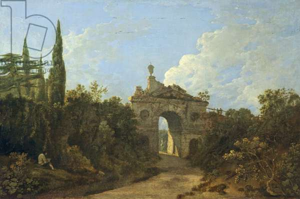 Ruined Arch at Kew Gardens, Surrey (oil on canvas)