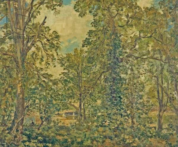 Bridgnorth, Shropshire, Edge of a Wood, before 1912 (oil on canvas)