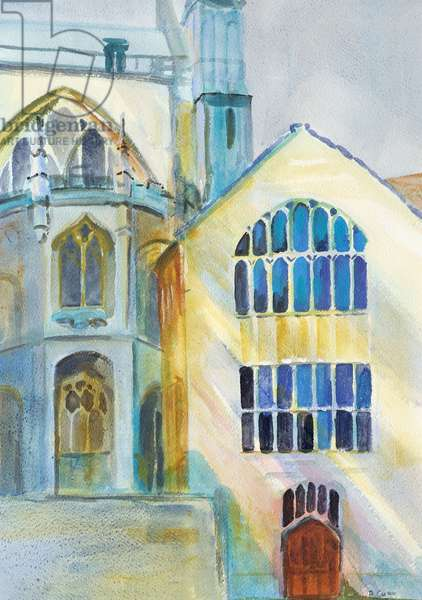 North Transept, Nave and Tower, Gloucester Cathedral, 2004 (acrylic on canvas)