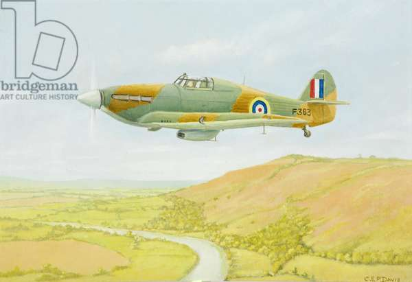 Gloster Aircraft, Hawker Hurricane, 1924-62 (oil on board)