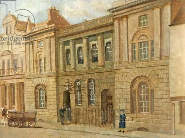 The Blue Coat School, Gloucester, c.1880 (oil on canvas)