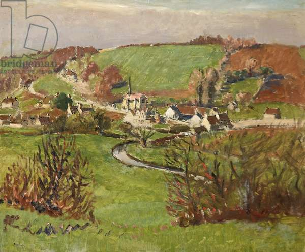Ford, Wiltshire (oil on board)