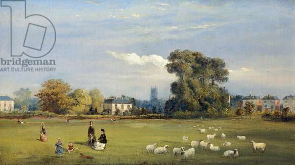 Spa Grounds, Gloucester, c.1875 (oil on canvas)