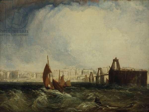 Brighton from the Sea (oil on board)