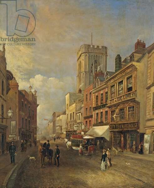 Southgate Street, Gloucester, c.1875 (oil on canvas)