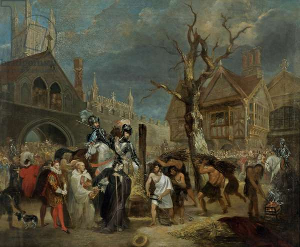 Martyrdom of Bishop Hooper (oil on canvas)