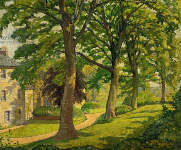 The Lawyer's House, Walton, Staffordshire (The Oaks), 1915 (oil on canvas)