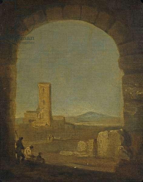Torre del Fiscale, near Rome, Italy, c.1775 (oil on canvas)