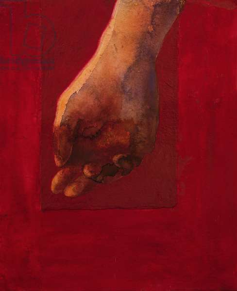 Red Hand, 2020 (w/c on rag paper)
