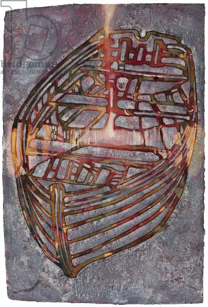 Small White Boat, 2007 (w/c on handmade indian rag paper)