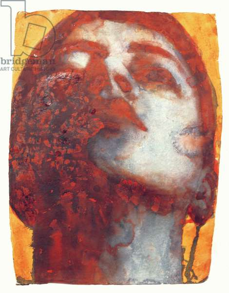 Head, 2000 (w/c on handmade Indian paper)
