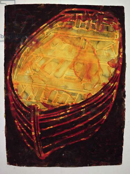 Yellow Boat, 2007 (w/c on paper)