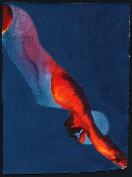 Diver, 2011 (w/c)