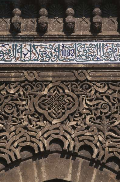 Door of the tomb, detail (ceramic & stucco)