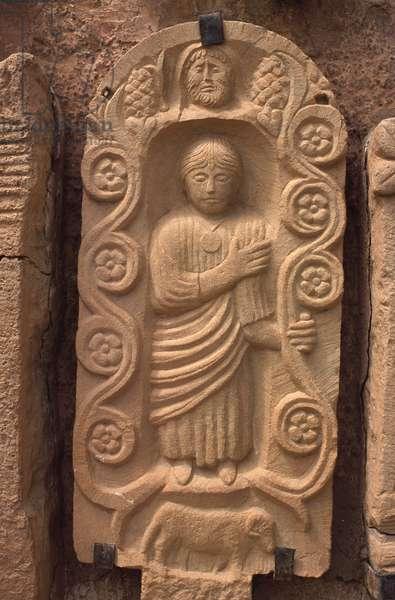 Stela with a human figure (stone)
