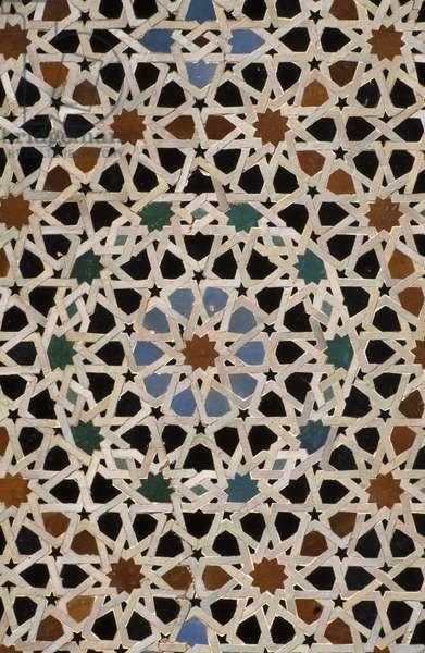 Bou Inania Madrasa, zellij tilework (ceramic)