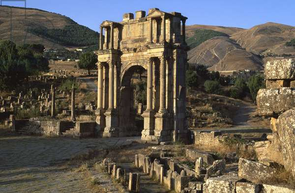 Triumphal arch built in honour of Emperor Caracalla, High Imperial Period (27 BC-395 AD)