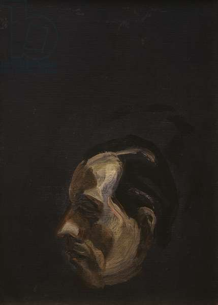 Head of a Man, 1959 (oil on canvas)