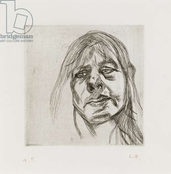 Head of a Woman, 1982 (etching)