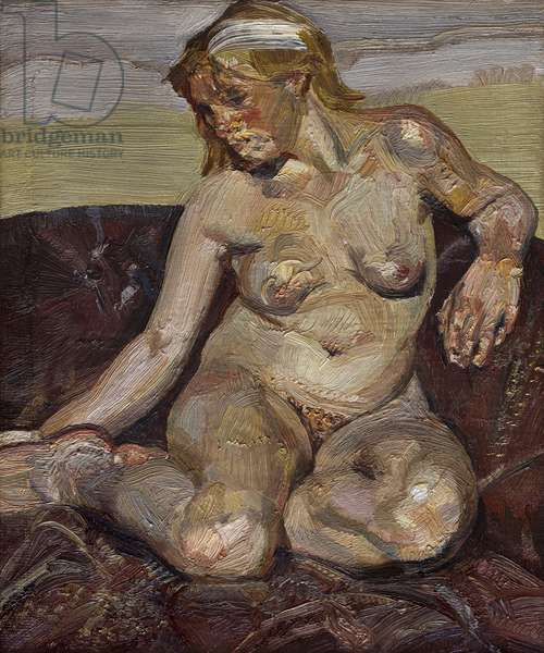 Girl Holding her Foot, 1985-86 (oil on canvas)