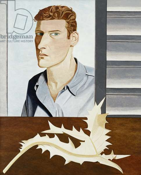 Man with a Thistle (Self-Portrait) 1946 (oil on canvas)
