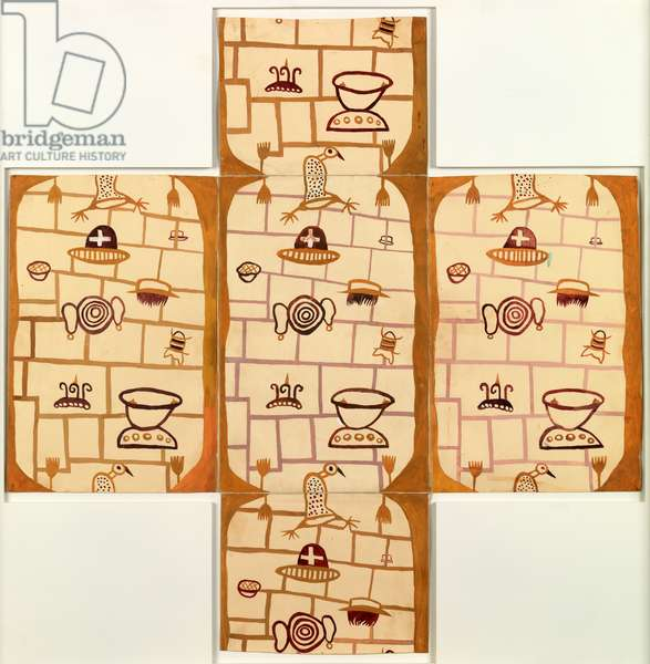 Design for a Furnishing Fabric, 1941 (gouache on paper)