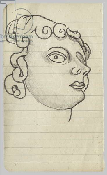 Head of a Statue, c.1944 (pencil on paper)