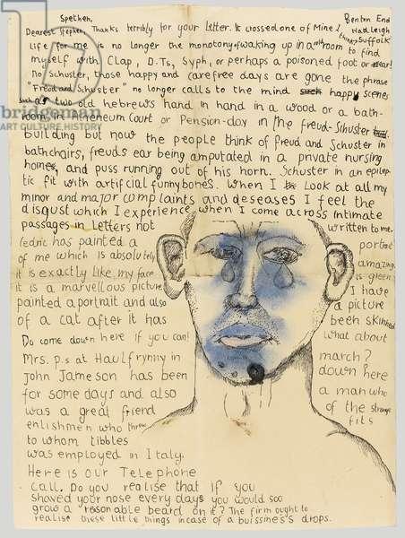 Letter to Stephen Spender, c.1939-41 (pen & ink on paper)